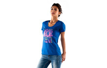 Mons Royale Women Tee Technical blue sketch